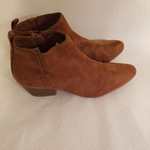 Old Navy Women's Ankle Boots Shoes Tan Suede